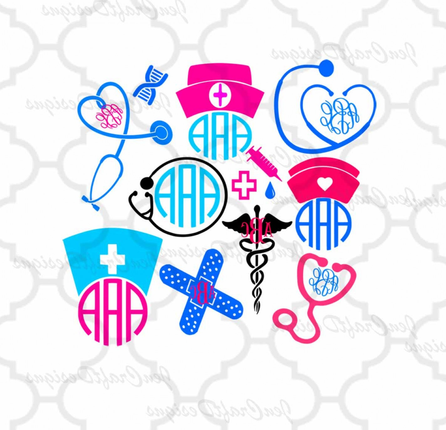 Nurse Vector Art SVG: Nurse Svg Stethoscope Svg Nursing Svg