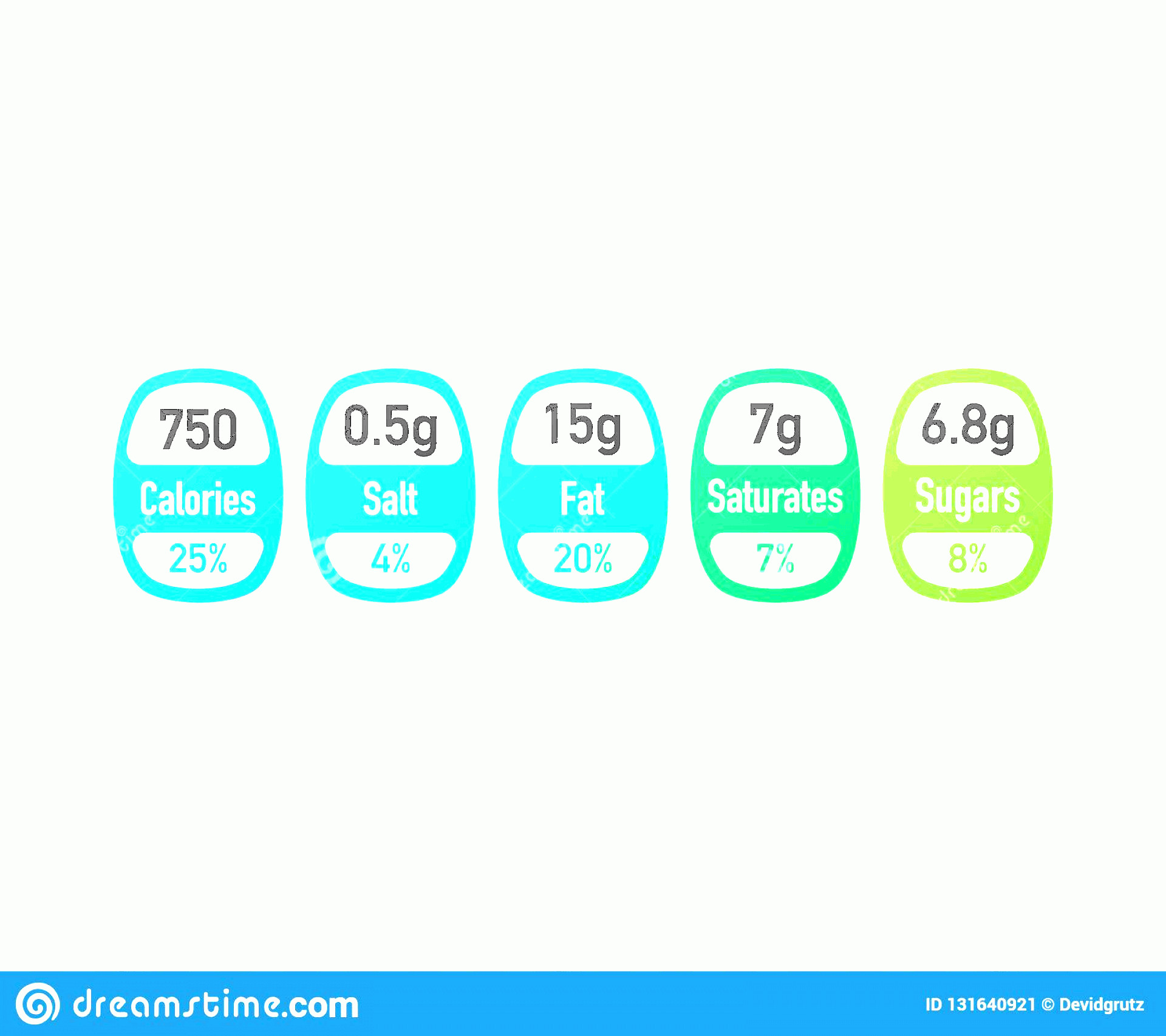 Vector Cereal Nutrition: Nutrition Facts Vector Package Labels Calories Ingredient Information Nutrition Facts Vector Package Labels Calories Image