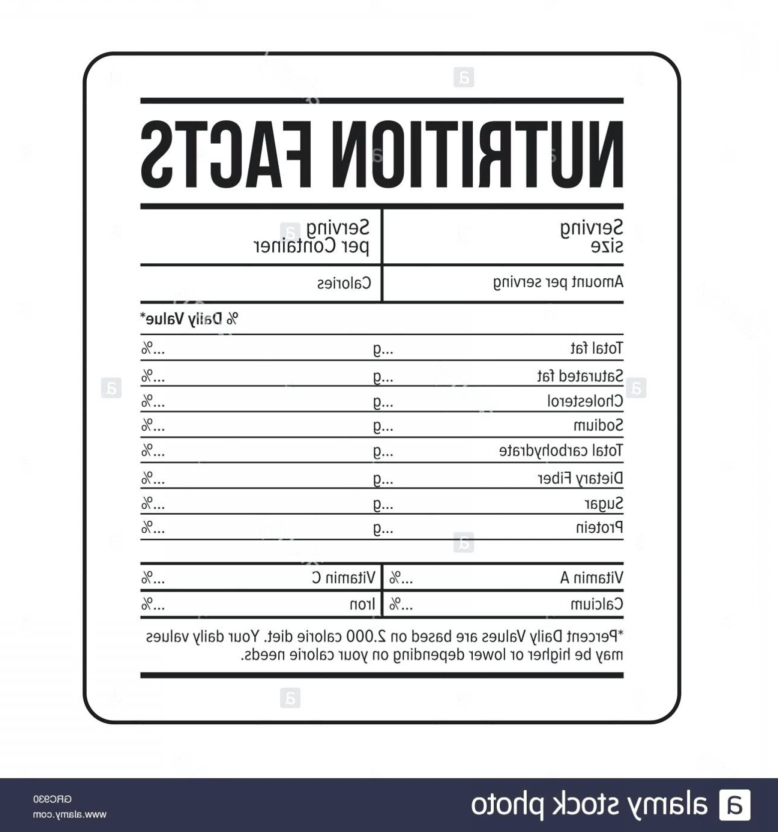 nutritional facts template nutrition label vector excel createmepink