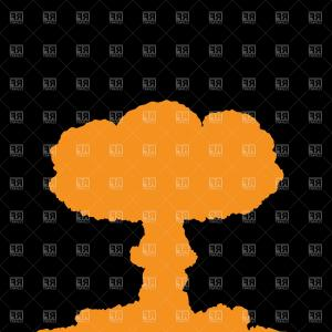 Atomic Vector Coud: Mushroom Cloud Nuclear Blast Explosion Smoke