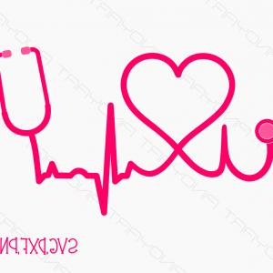 Nurse Vector Art SVG: Nursing Heart Svg Cut Files Nurse