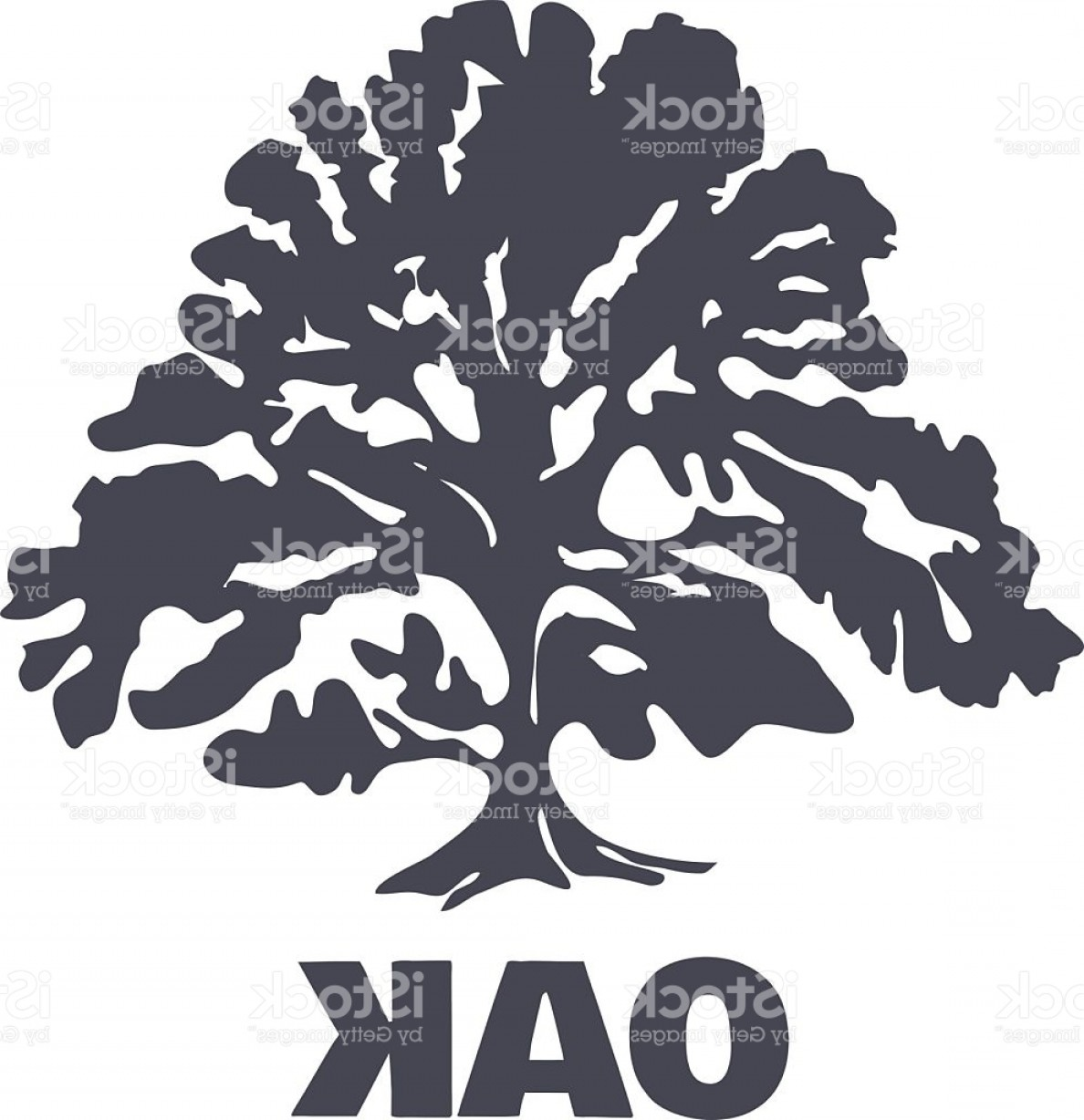 Oak Tree Silhouette Vector Graphics: Oak Tree Logo Silhouette Vector Gm