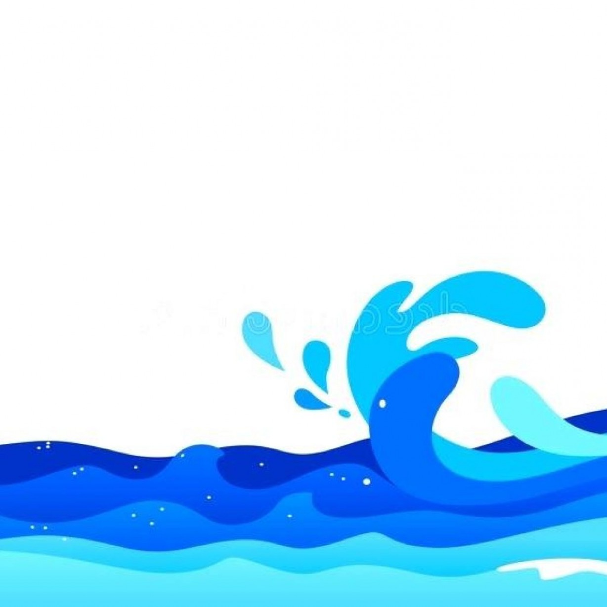 Ocean Water Clip Art Vector: Ocean Waves Clipart Thank You Clipart