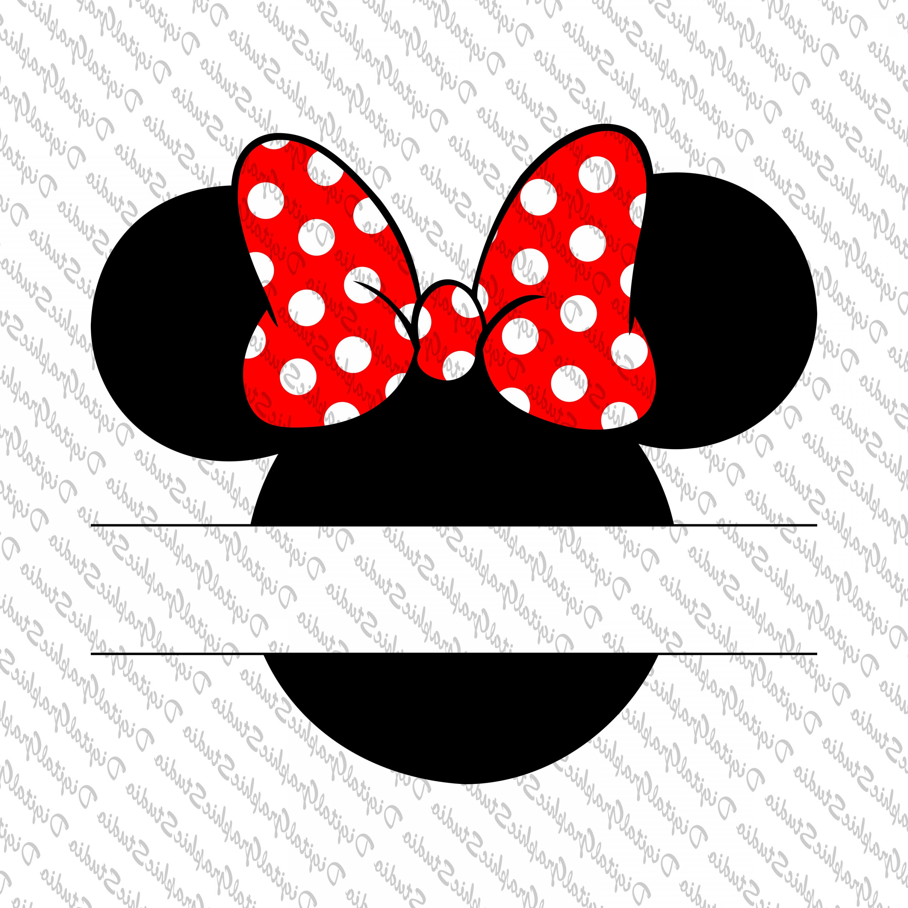 Minnie Mouse Vector Clip Art: Off Mickey Mouse Monogram Mickey