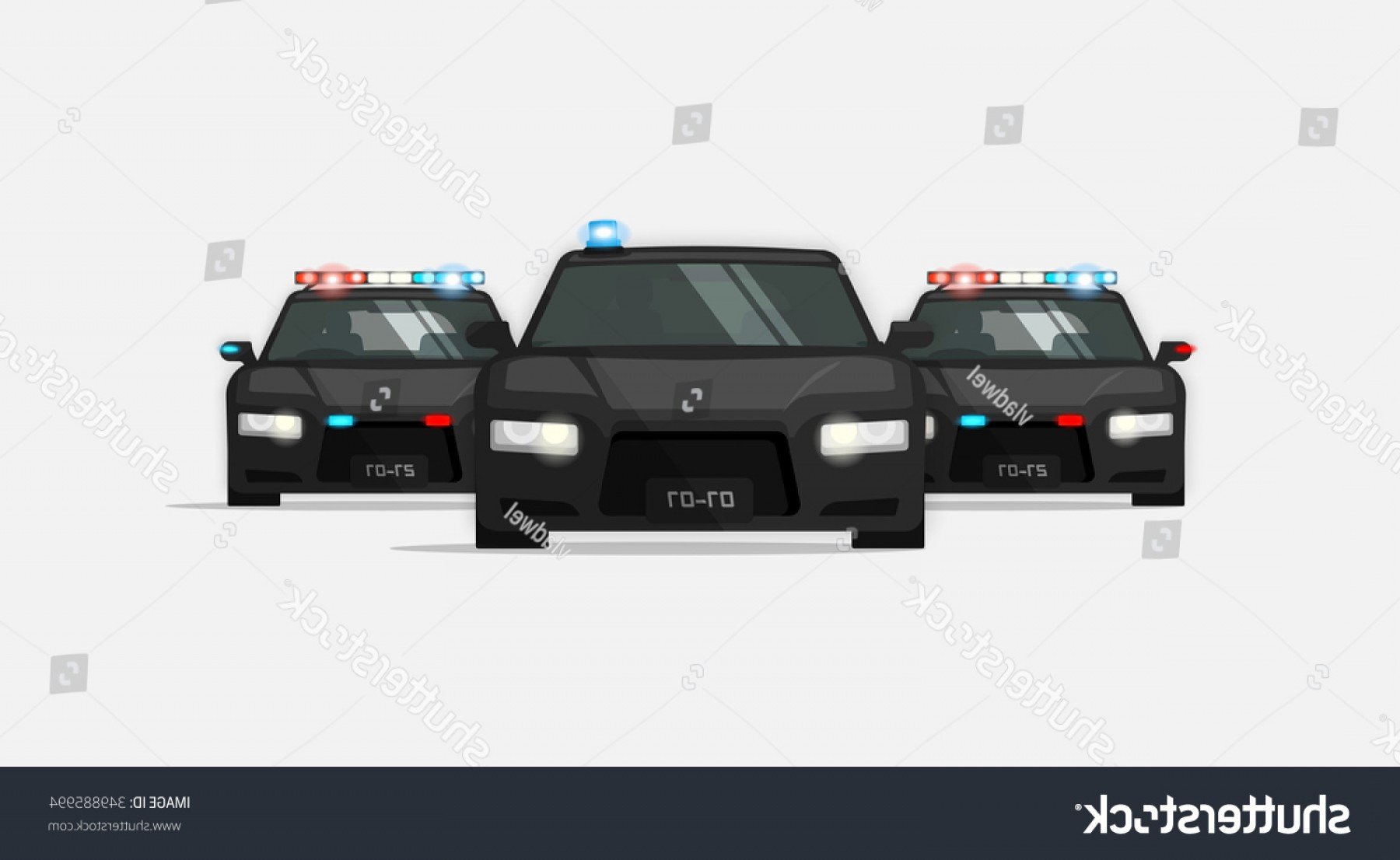 Custom Police Cars Vector: Official State Car Police Cars Escort