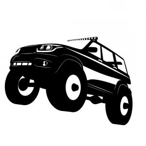 Off-Road Vector Logo Designs: Off Road Vehicle Car Logo Vector