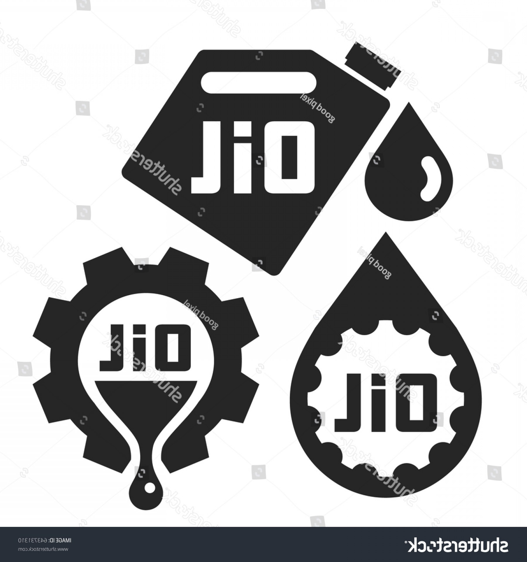 Oil Change Vector: Oil Change Service Signs Icons Vector