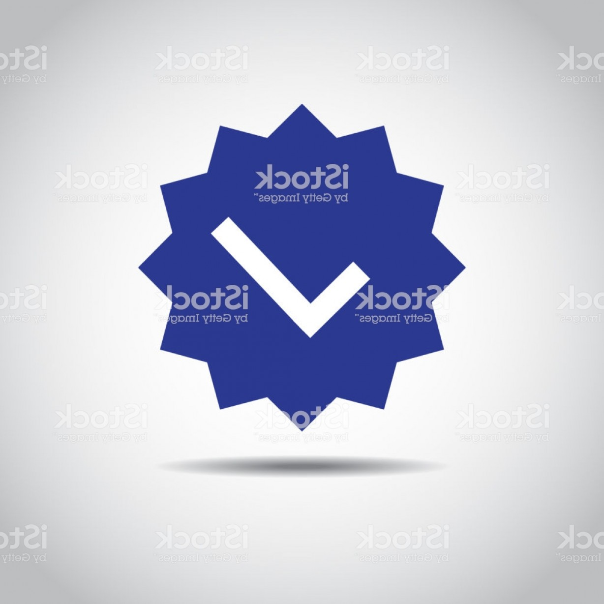 HDS Badge Vector Art: Ok Button Icon Blue Icon Of Accept Sign Shadow And Isolated On White Gm