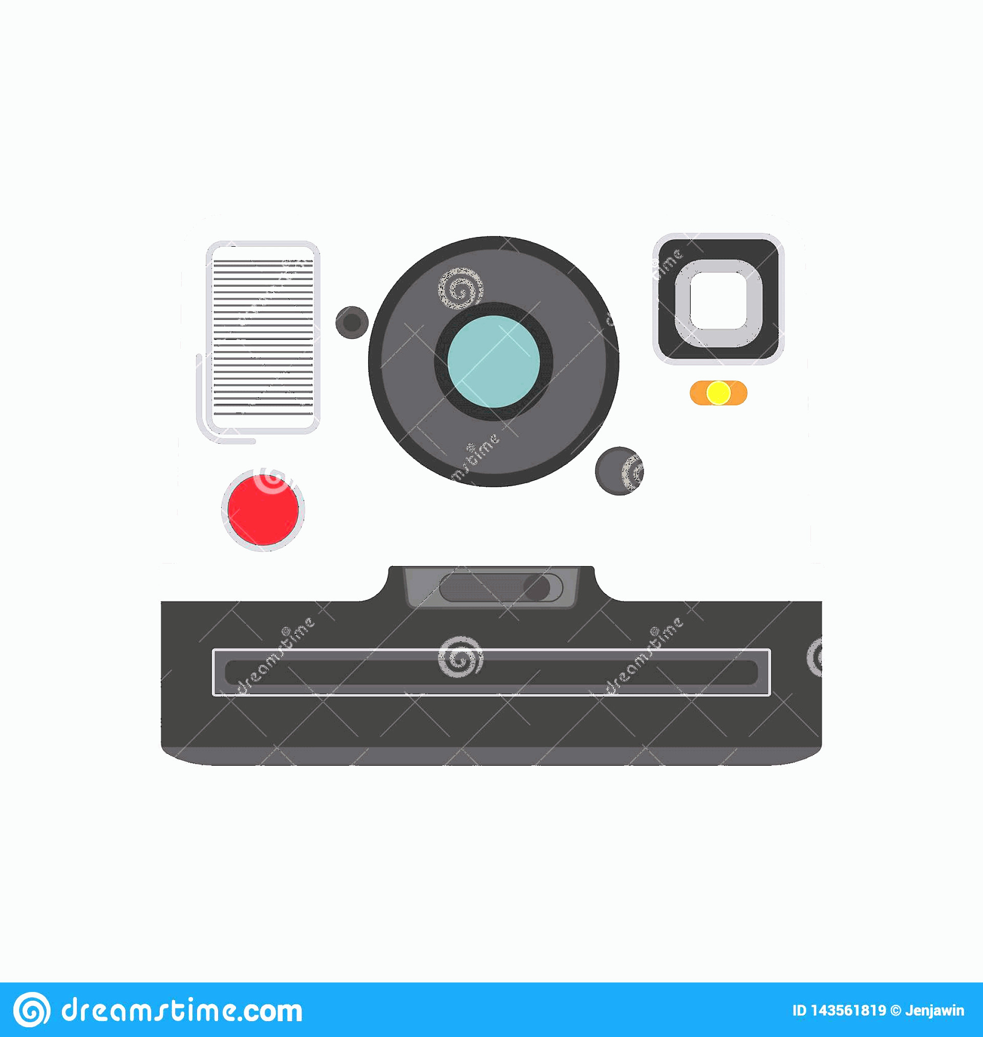 Classic Camera Vector: Old Classic Photo Camera Vector Eps Flat Style Old Photo Camera White Background Old Polaroid Photo Camera Vector Eps Old Photo Image