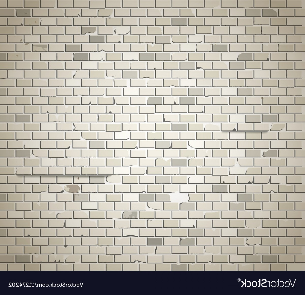 Wall Background Vector: Old Dirty Brick Wall Background Vector
