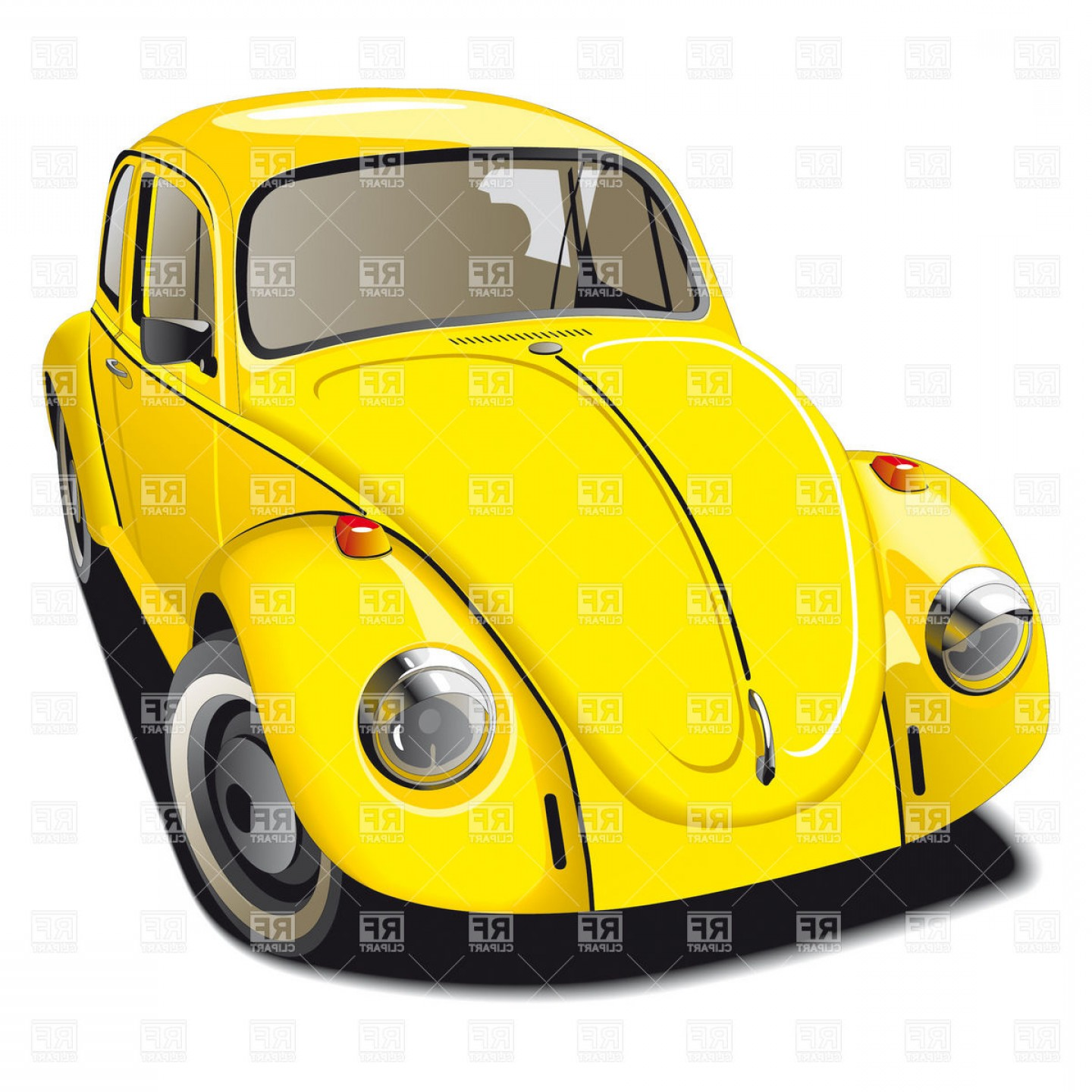 VW Vector Graphic: Old Fashioned Car Volkswagen Beetle Vector Clipart