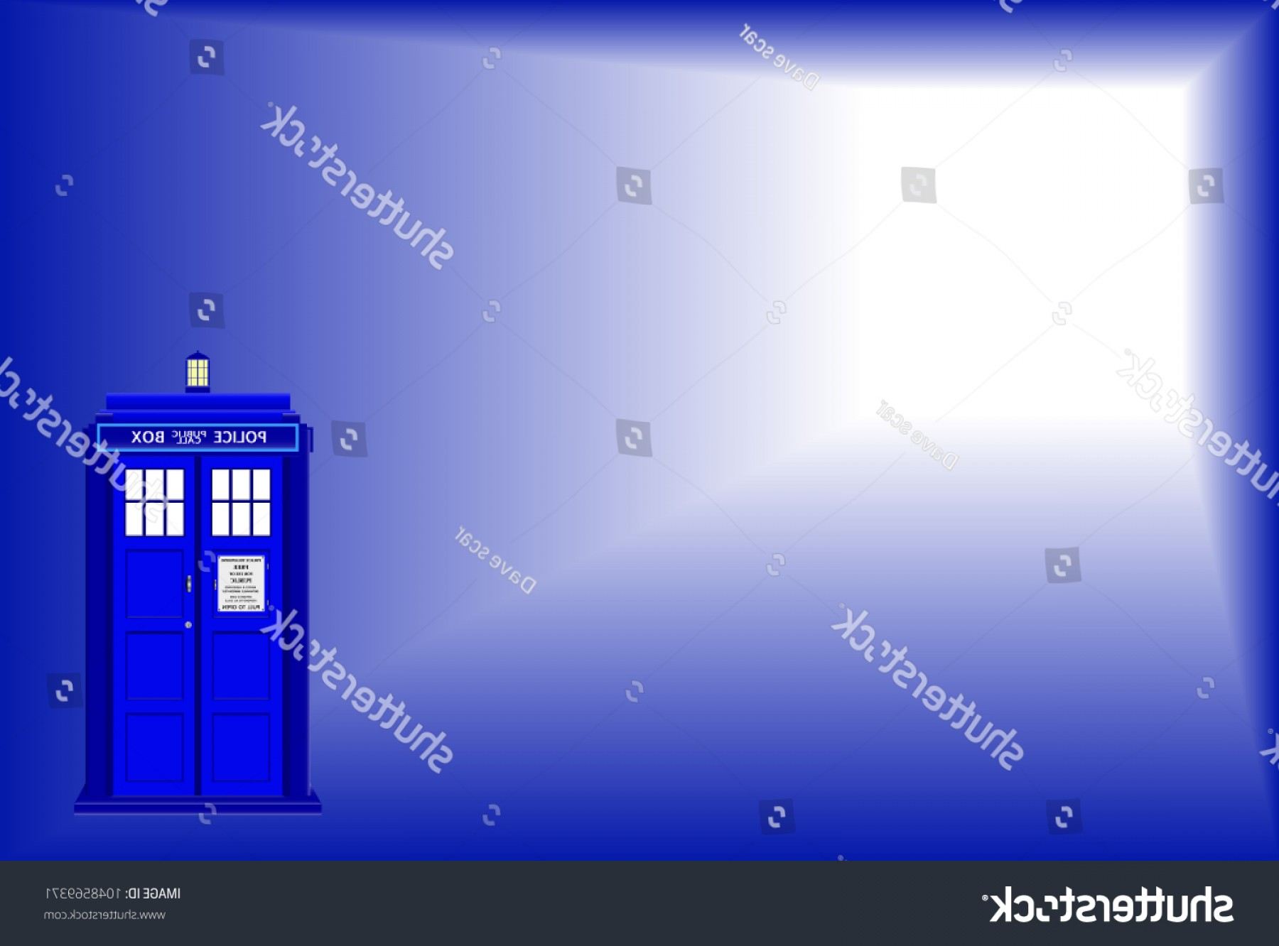 Vector Police Box: Old Fashioned Police Telephone Box Background
