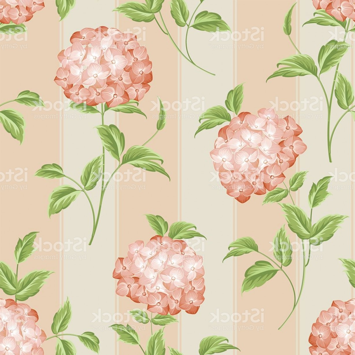 Vector Mop Flower: Old Style Fabric Pattern Gm