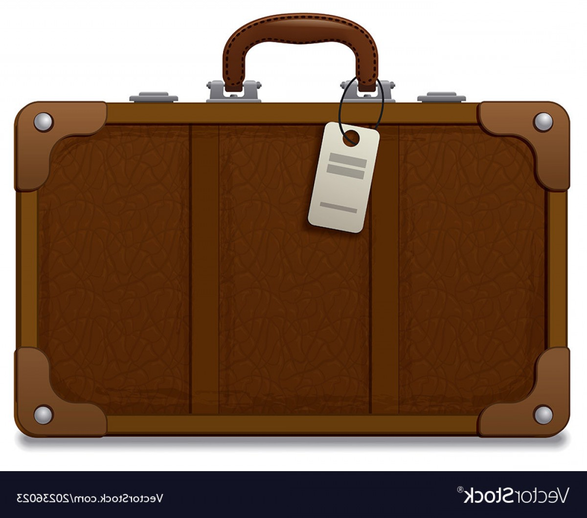 Vintage Luggage Vector: Old Vintage Style Suitcase Vector