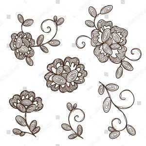 Vector Old Lace Black: Old Lace Background Set Of Seamless Pattern Vector
