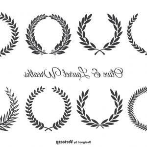 Gold Olive Wreath Vector: Olive And Laurel Wreath Set