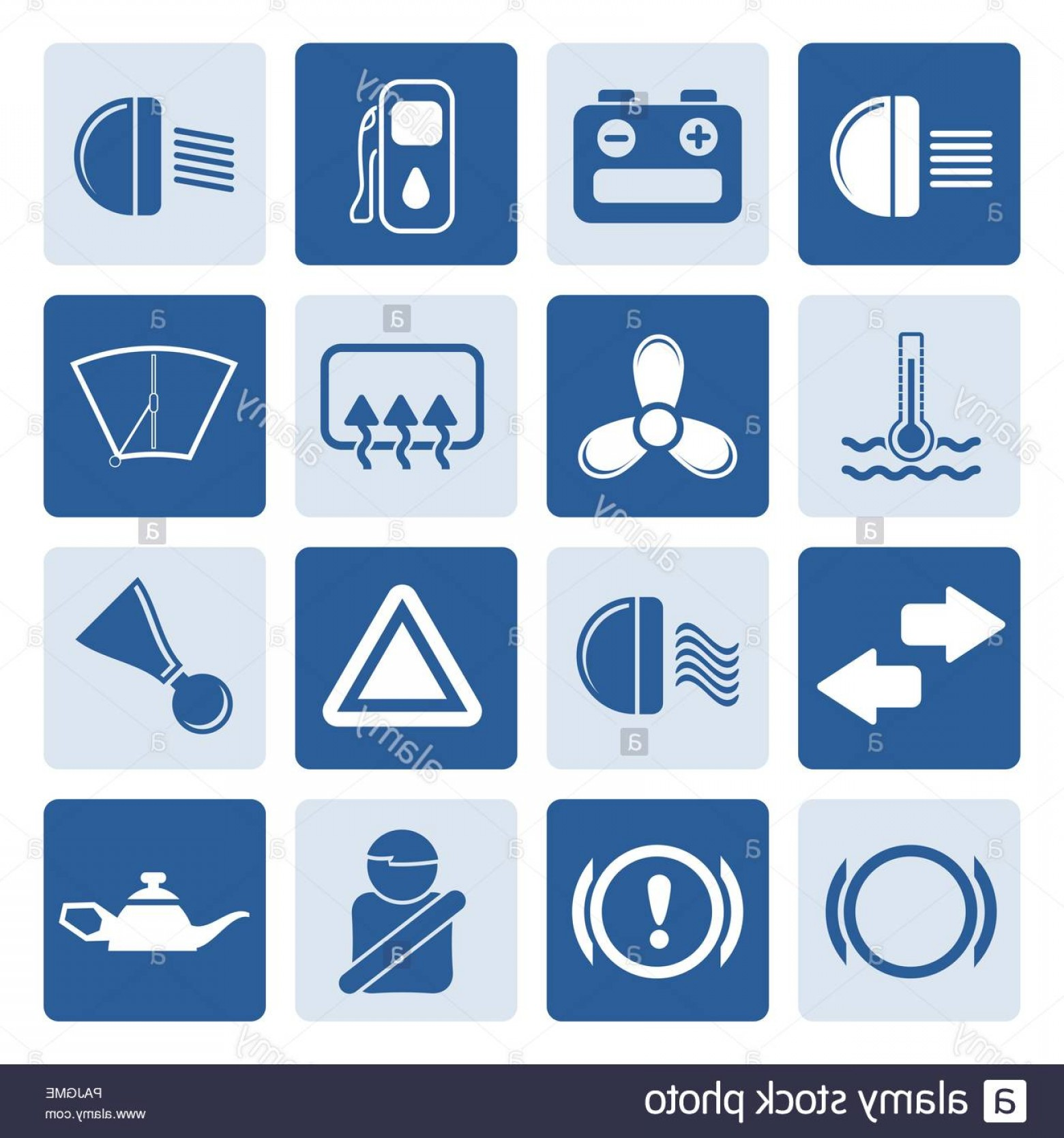 Air Conditioners Stabilizer Vector: One Tone Car Dashboard Simple Vector Icons Set Image