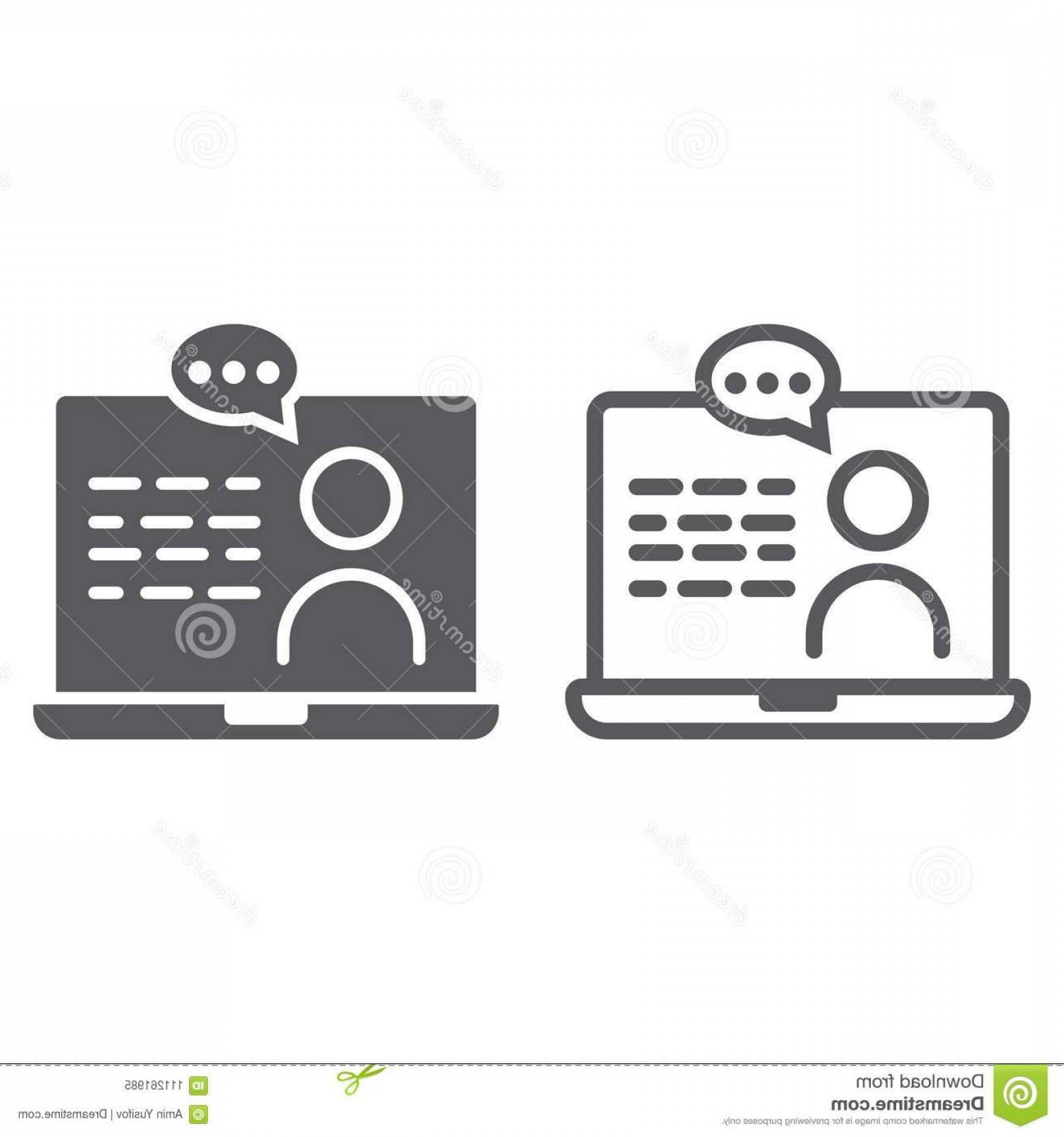 Support Vector Graphics: Online Consulting Line Glyph Icon Online Consulting Line Glyph Icon E Learning Education Support Sign Vector Graphics Image