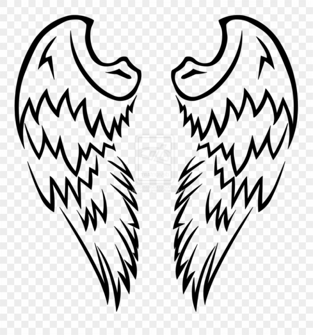 Angel Wings Tattoo Tribal Vector: Oohthvector Free Download Clipart Angel Wing Graphics Easy