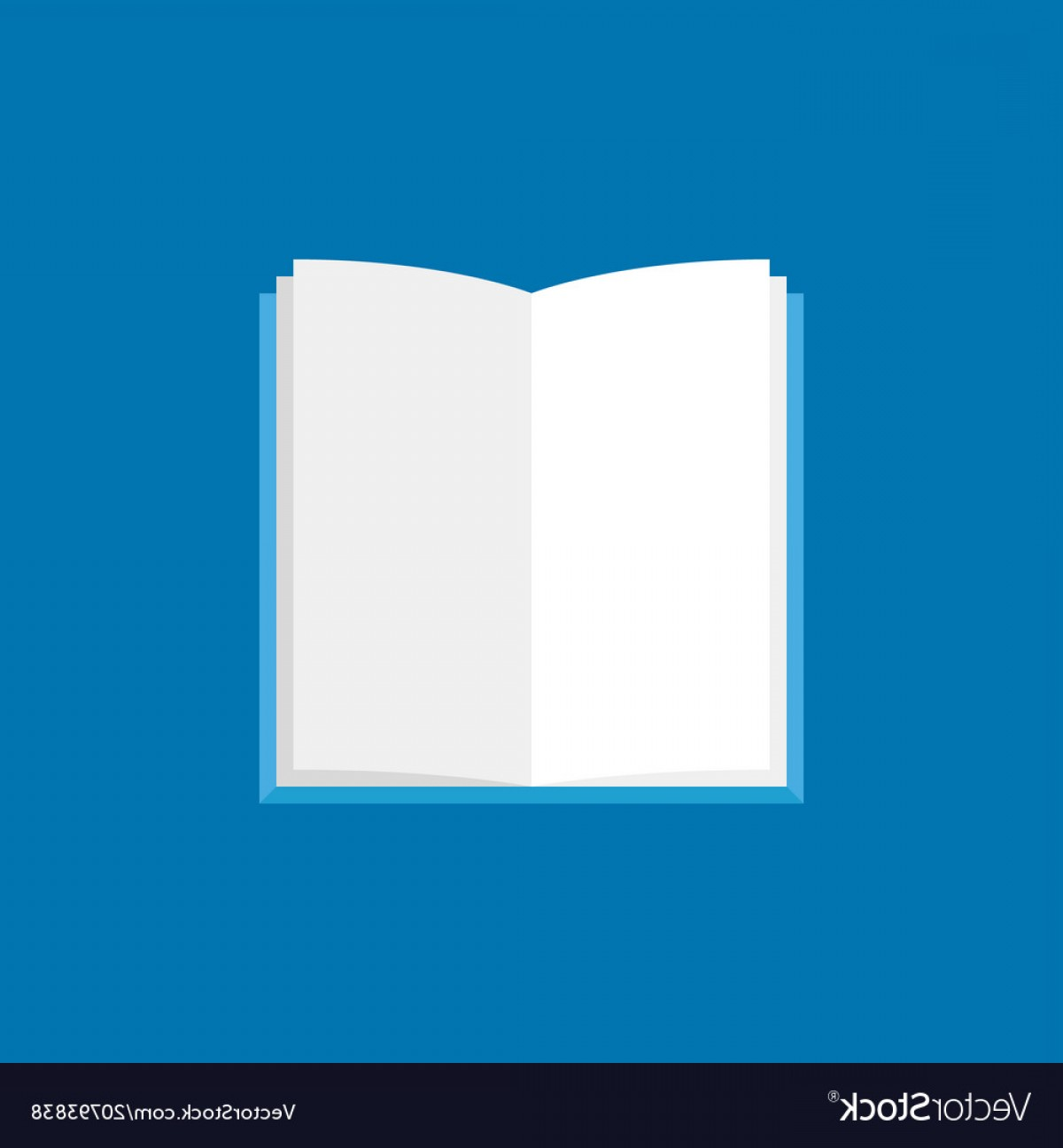 Open Book Vector Flat: Open Book Icon Flat Book With White Pages Vector