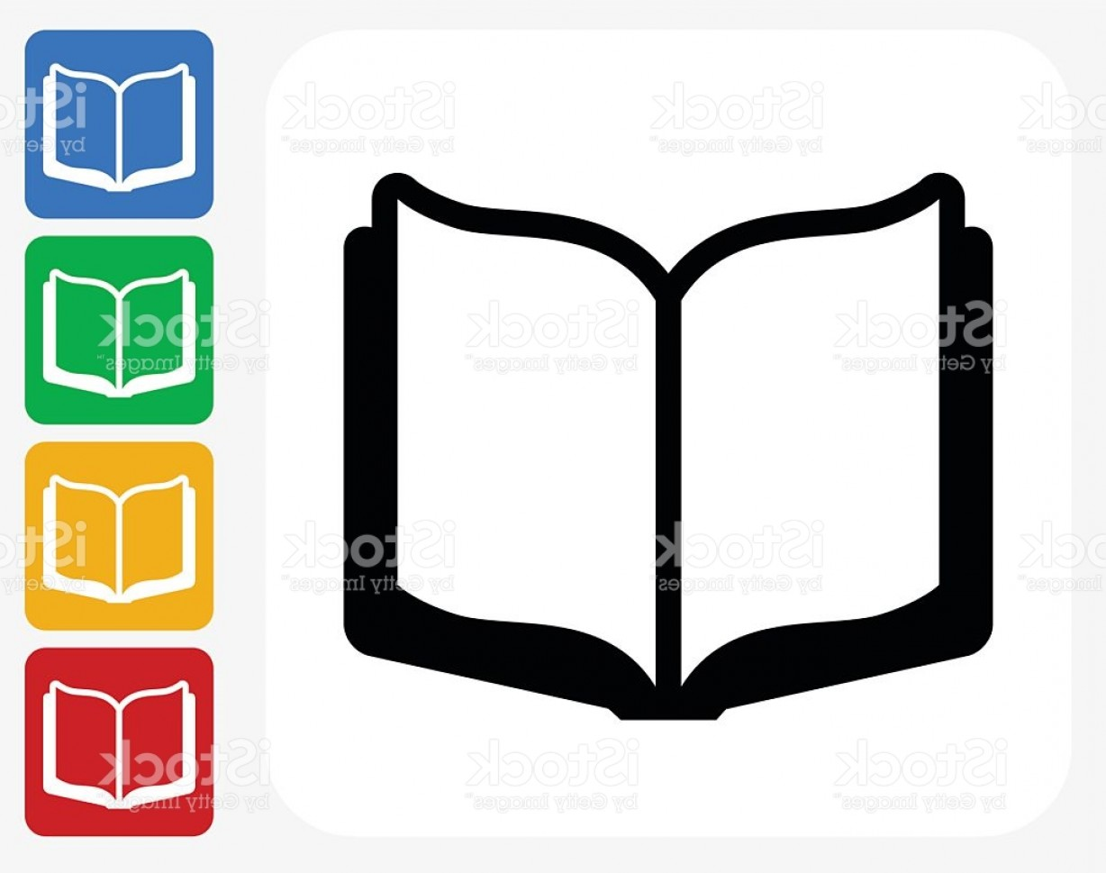 Open Book Vector Flat: Open Book Icon Flat Graphic Design Gm