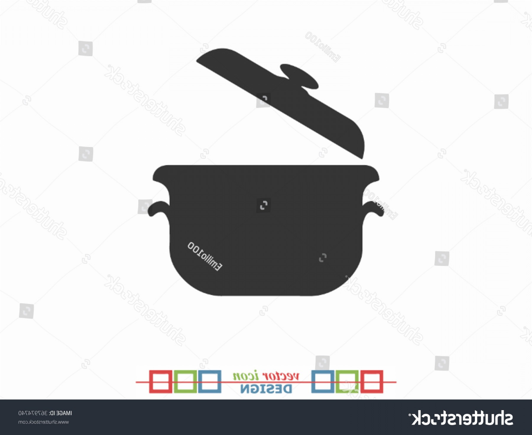 Big Cook With Cooking Pot Vector: Open Cooking Pot Vector Icon