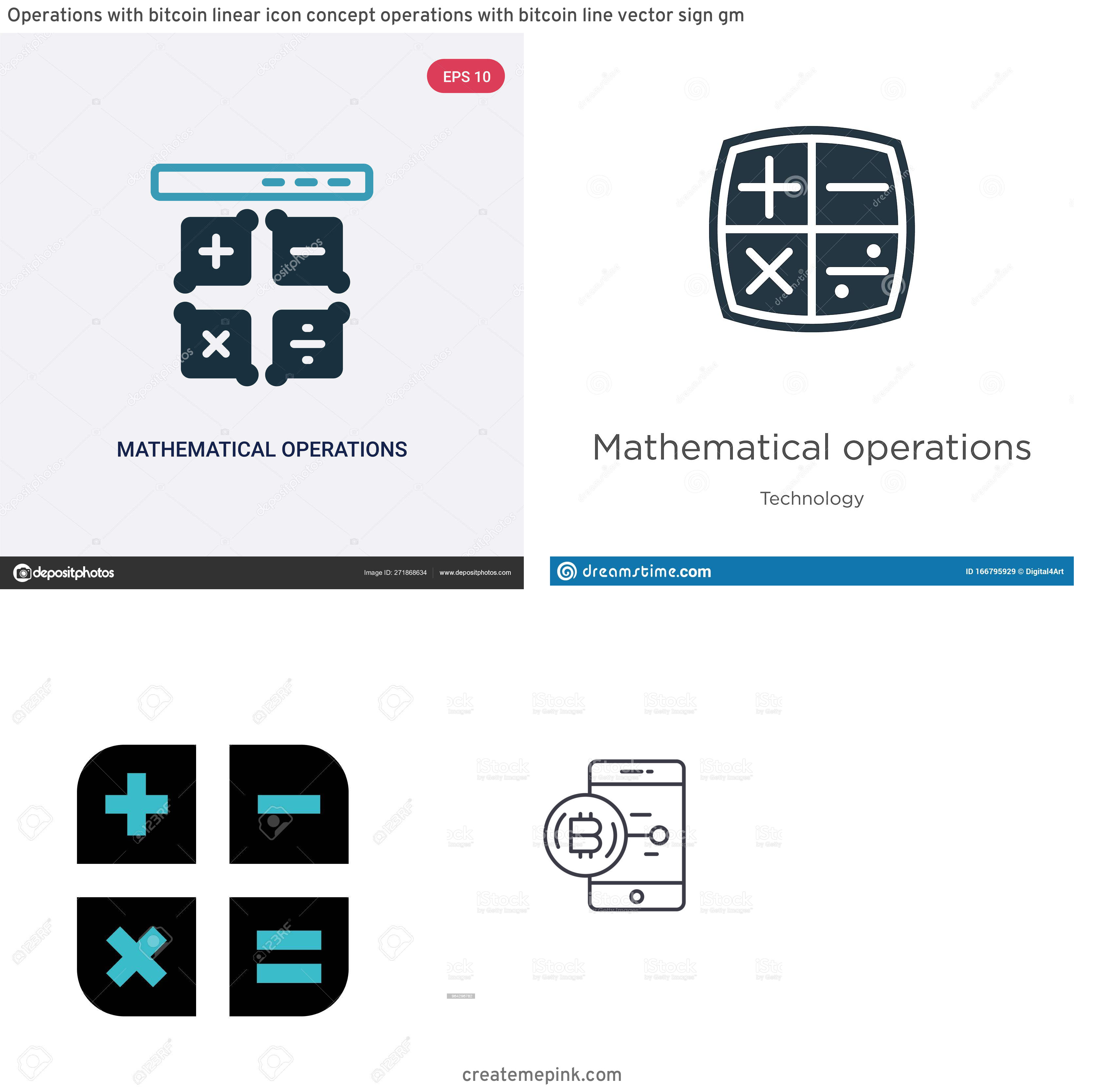 Operations Icon Vector: Operations With Bitcoin Linear Icon Concept Operations With Bitcoin Line Vector Sign Gm
