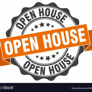 Vector House Sign: Open House Stamp Sign Seal Vector