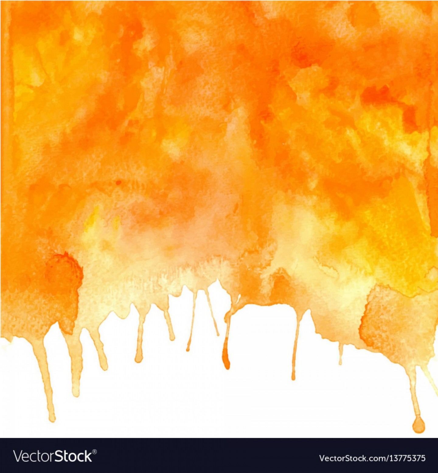 Orange Watercolor Vector Free: Orange Abstract Hand Drawn Watercolor Vector