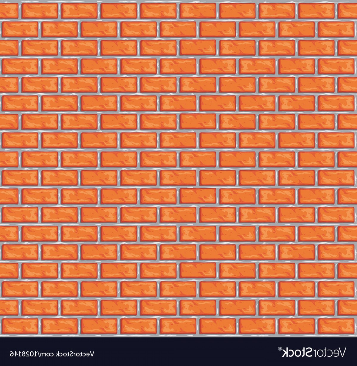 Wall Background Vector: Orange Brick Wall Background Vector
