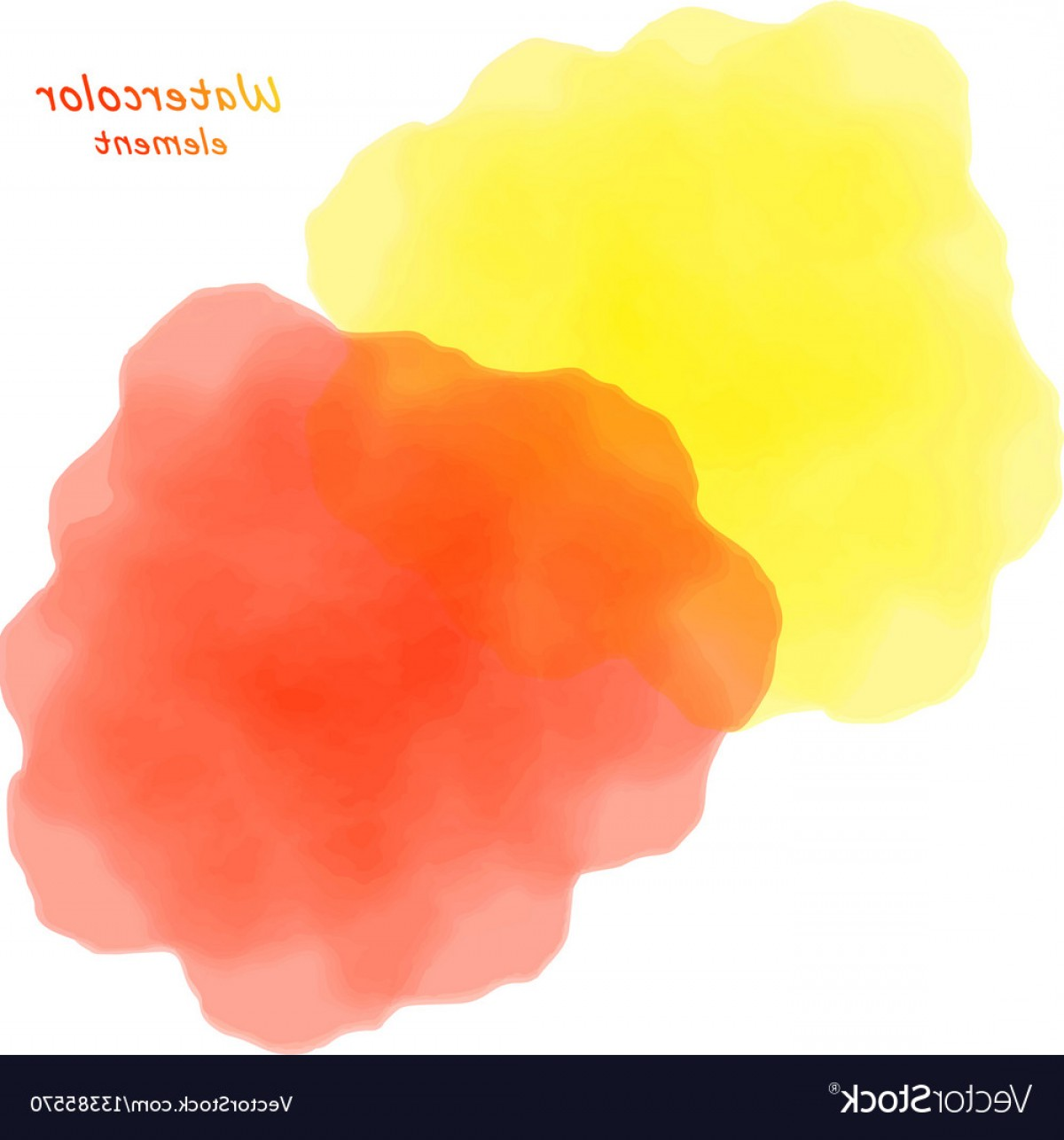Orange Watercolor Vector Free: Orange Watercolor Blotch Set Of Orange Watercolor Vector