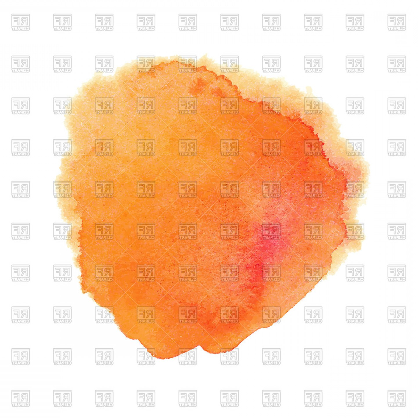 Orange Watercolor Vector Free: Orange Watercolor Spot Vector Clipart