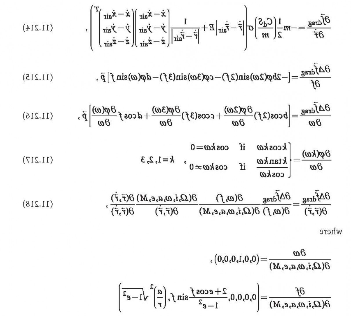 Zero Position Vector: Orbit Related Partial Derivatives Perturbed Orbit And Its Determination Gps