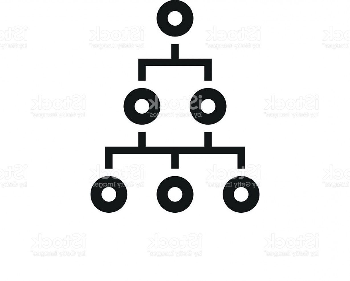 Vector Black And White Organization: Organization Chart Icon On A White Background Single Series Gm