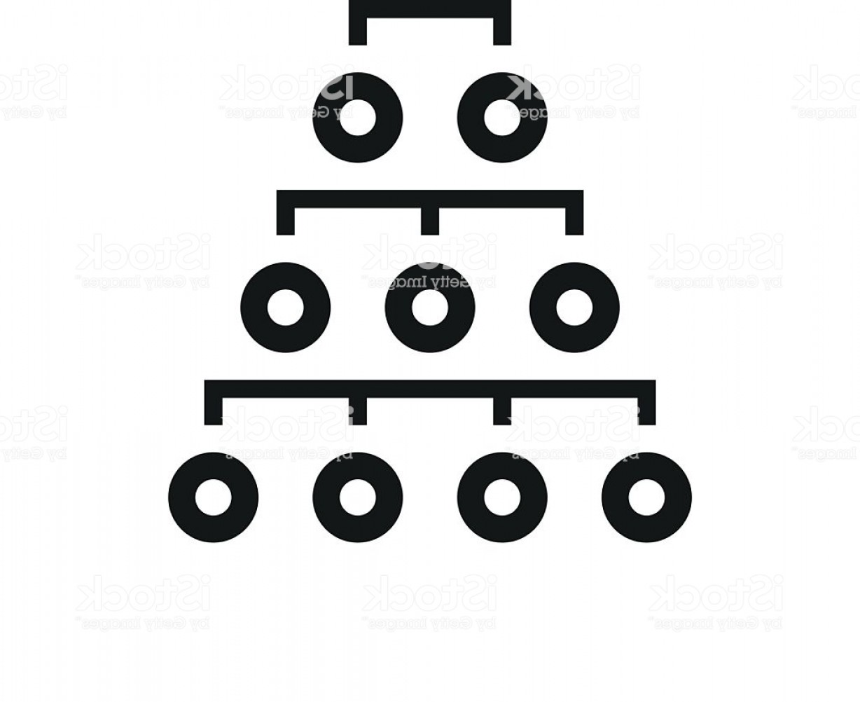 Vector Black And White Organization: Organization Chart Icon On A White Background Singleseries Gm