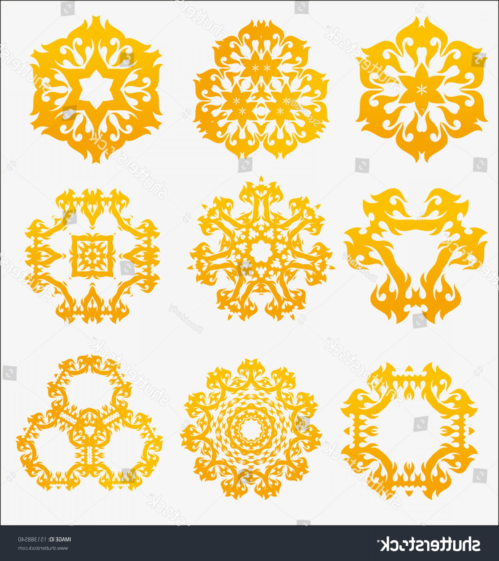 Vector Ornament Sets: Originally Created Vector Ornament Collection Design