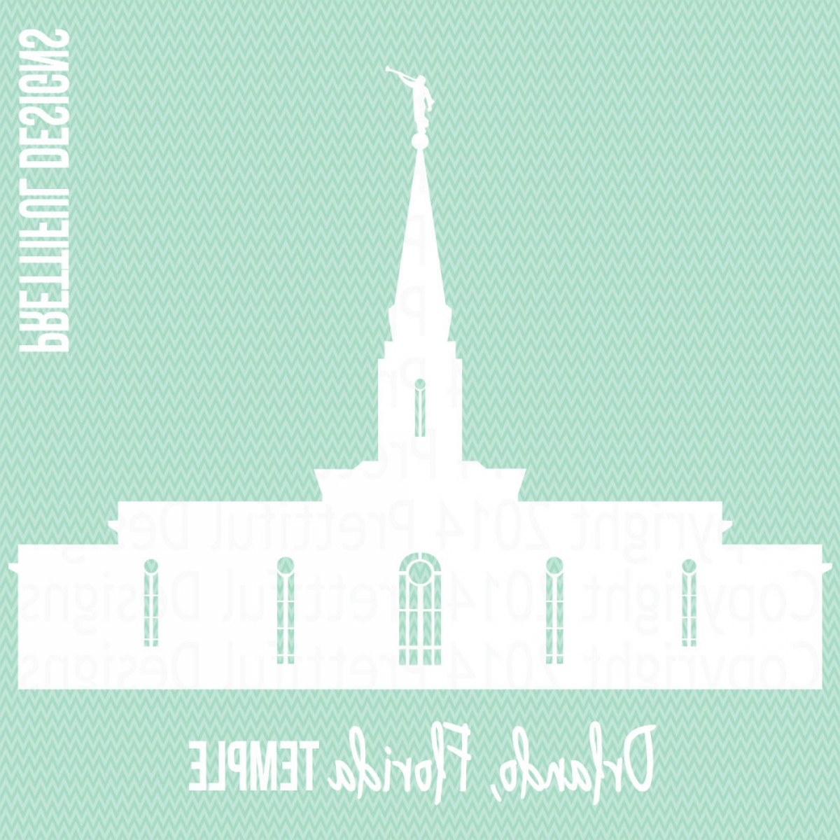 Salt Lake City Temple Vector: Orlando Temple Florida Lds Mormon Clip