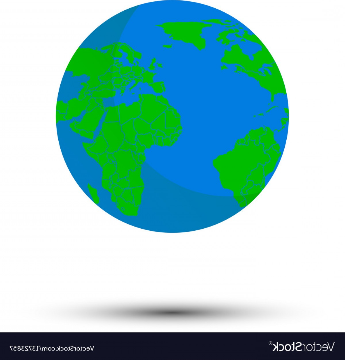 One Color Simple Vector Globe: Orld Map Royalty Free Vector Globe