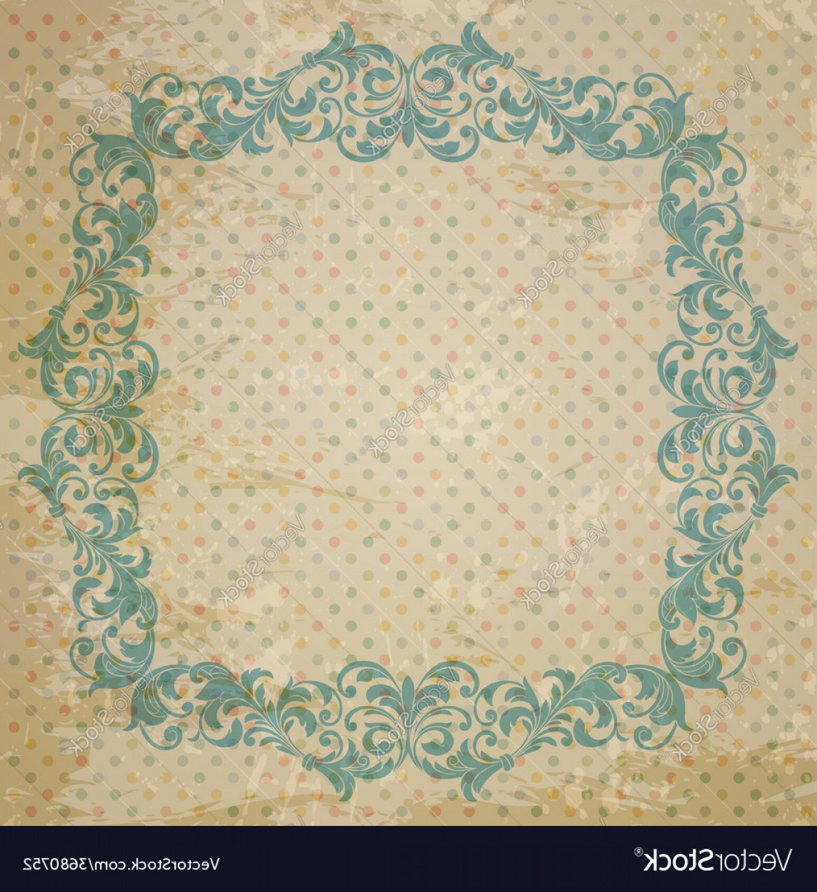 Aqua Victorian Vectors: Ornate Element In Victorian Style Vector