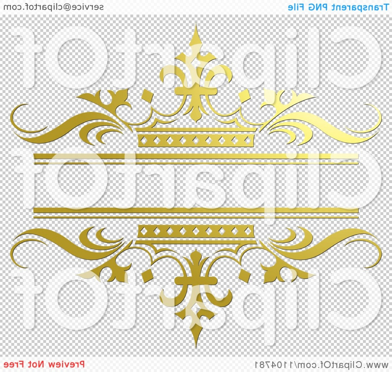Gold Wedding Swirl Vector: Ornate Gold And Crown Wedding Frame