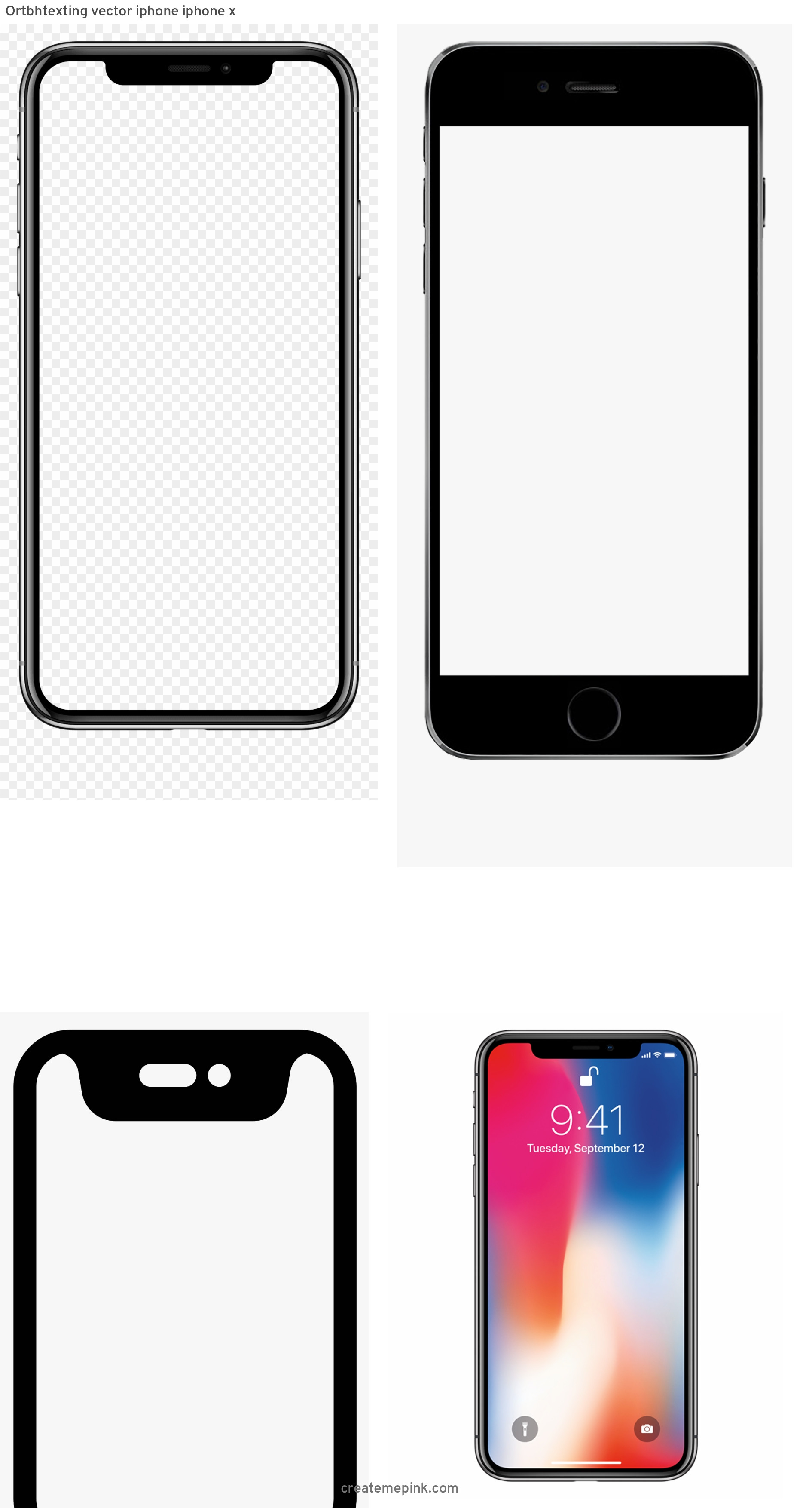 IPhone Vector Transparent Background: Ortbhtexting Vector Iphone Iphone X