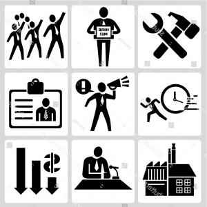 Vector Black And White Organization: People Management Organization Manpower Concept
