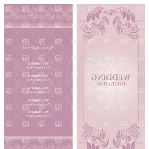 Lilac Wedding Vectors: Ornate Violet Wedding Invitation Template Vector Clipart