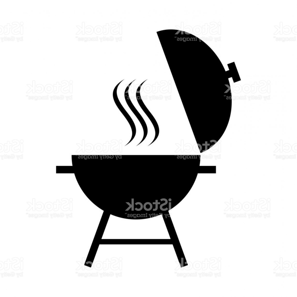 BBQ Grill Vector Black And White: Outdoor Grill Vector Icon Bbq Grill Icon Gm