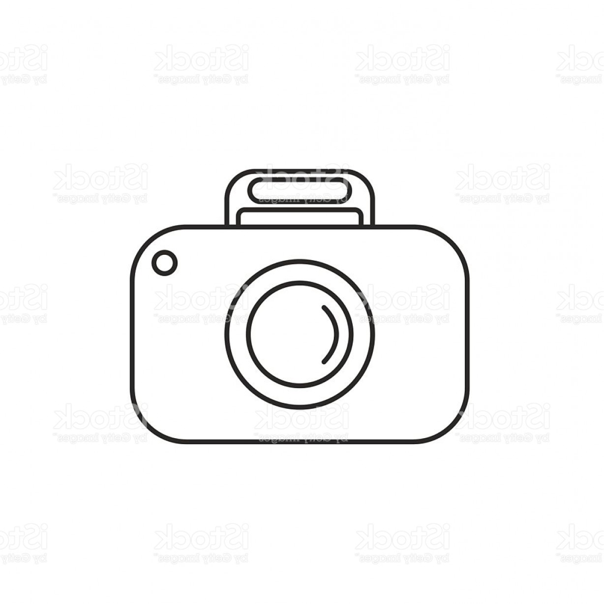 Camera Outline Vector Graphic: Outline Camera Icon On White Background Gm