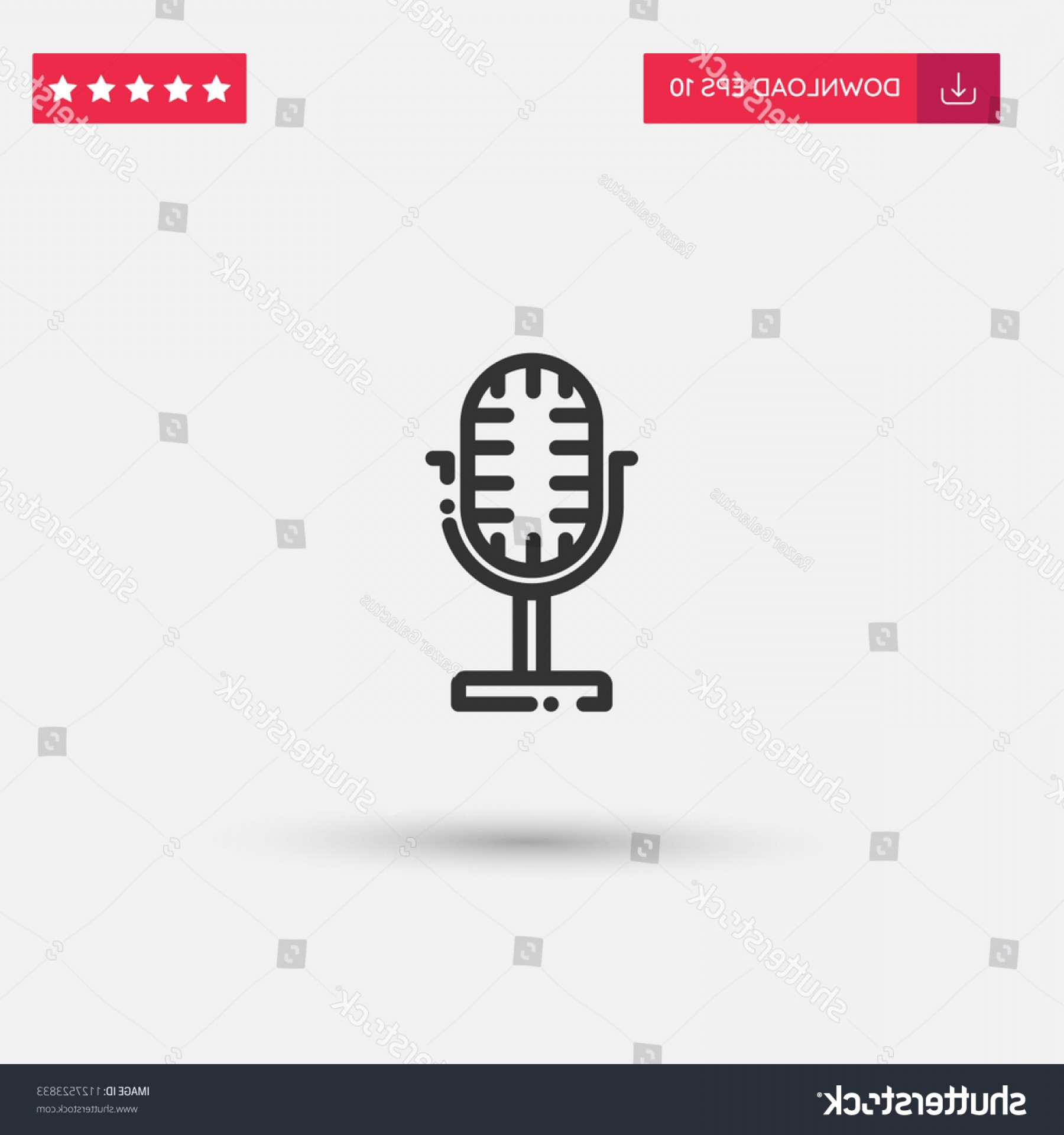 Mics Vector Designs: Outline Mics Icon Isolated On Grey