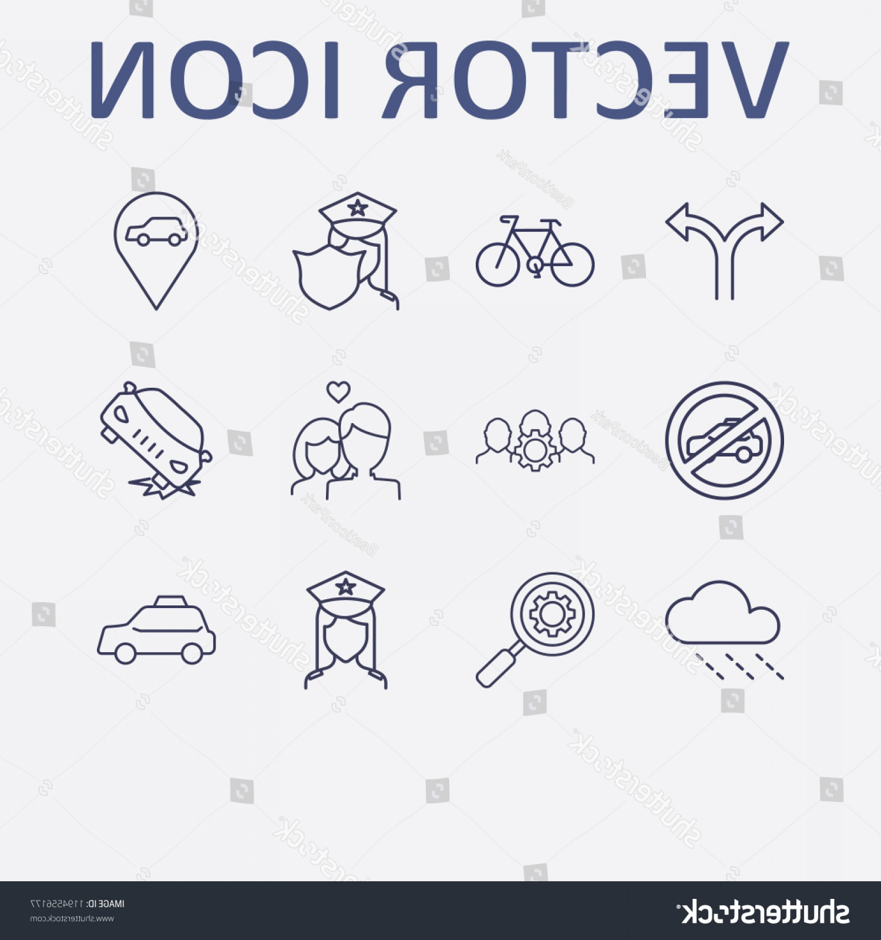 Setting Sun Vector Outline: Outline Street Icon Set Search