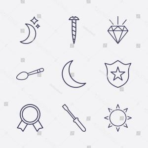 Setting Sun Vector Outline: Outline Shiny Icon Set Screw