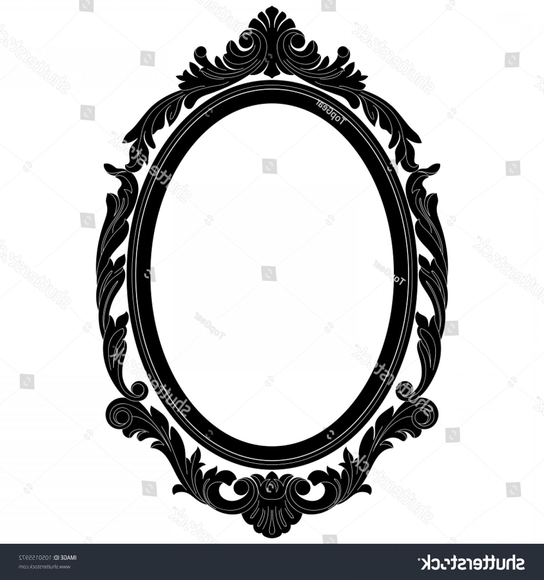 Filigree Oval Frame Vector: Oval Frame Vectoroval Border Vintage Engraving