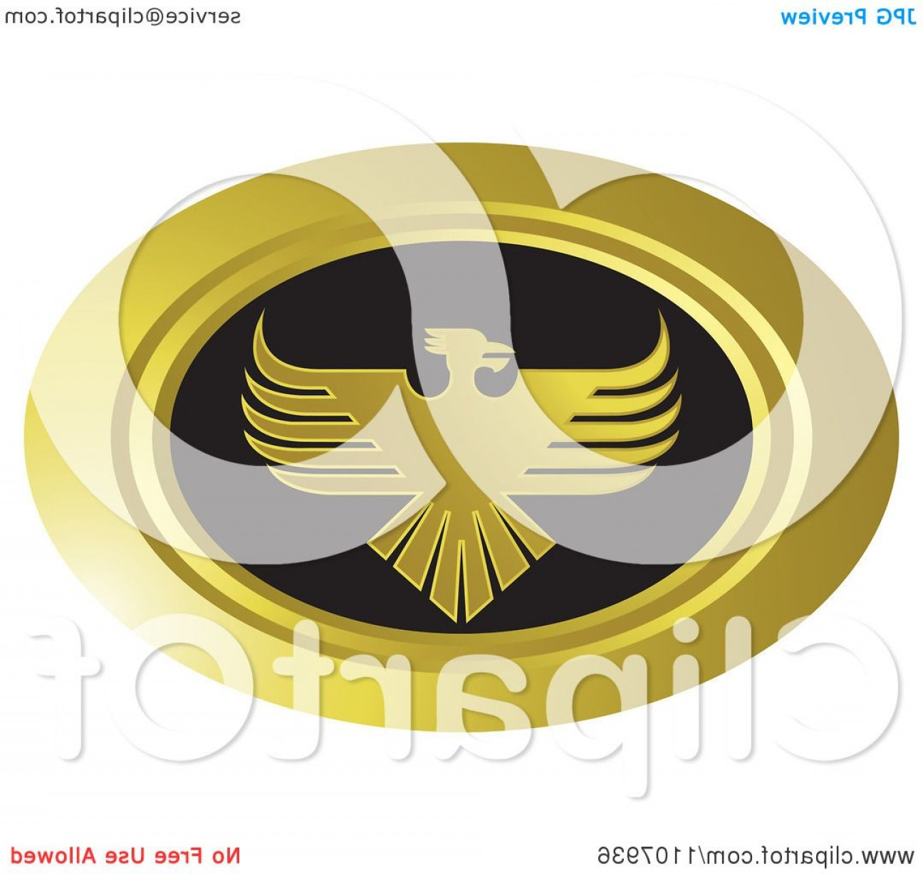 Firebird Vector Transparent Background: Oval Gold And Black Phoenix Icon